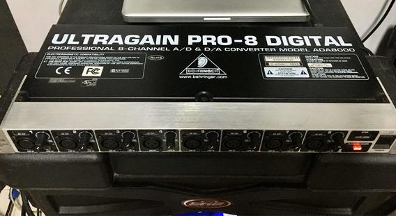 Conversor Behringer Ultragain Pro-8 Digital