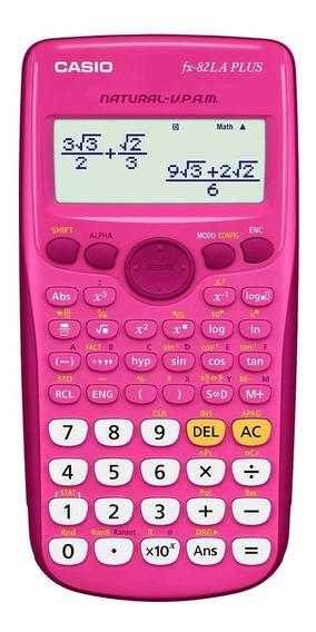 Calculadora Cientifica Casio Fx-82la Plus Rosa 252 Funciones