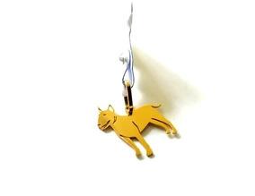 Pingente De Cachorro Bull Terrier + Piastrine Em Ouro 18k