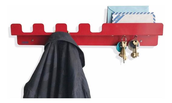 Perchero Pared - Porta Llaves Magnético Y Organizador Chapa