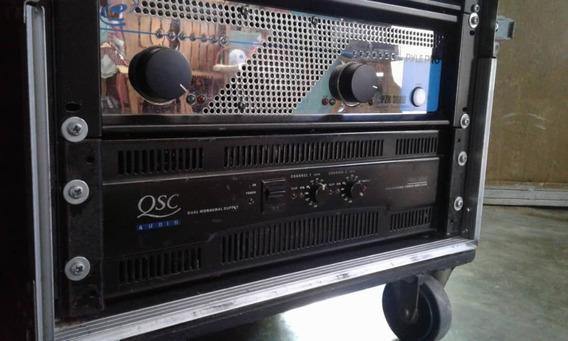 Amplificador De Sonido Qsc 5050 Y Bajos Soud Barrie 18