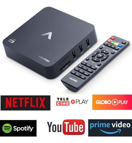 Smart Tv Box Android 4k Stv2000 - Aquário