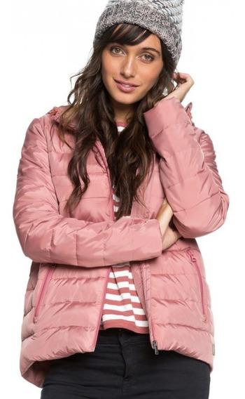Roxy Campera C/ Capucha Lifestyle Mujer Rock Peak Rosa