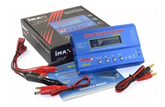 Imax B6 Carregador Balanceador Bateria Lipo Li-ion B6ac 80w