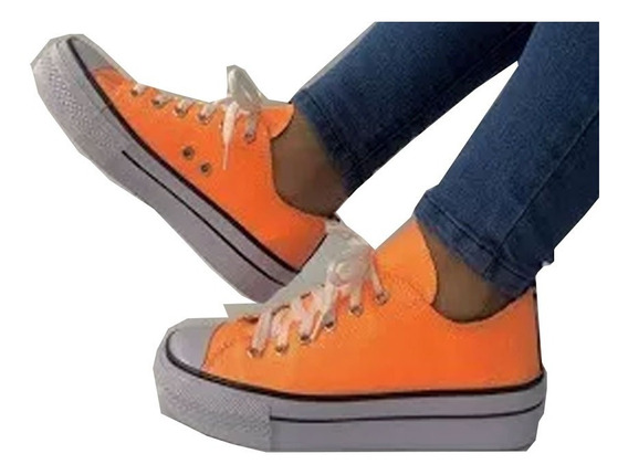 Zapatillas Fluor Mujer Urbanas Plataforma Botinetas Zapatos