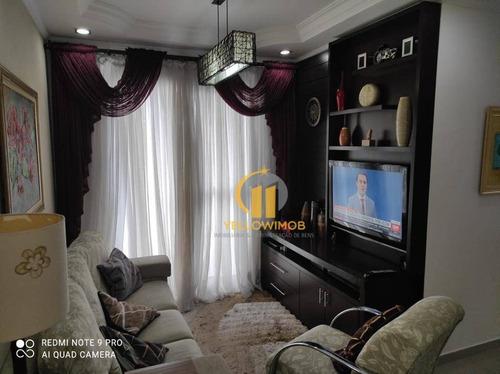 Apartamento De 2 Dormitórios , Todo Reformado E Planejado . - Ap0414