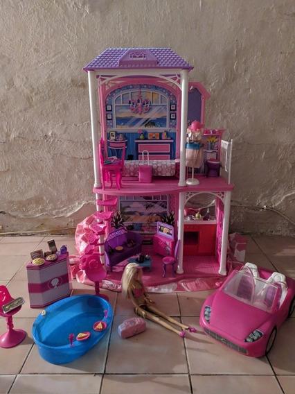Casa Barbie Carro Piscina Muñeca
