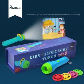 Kids Storybook Lanterna Aprendizagem Brinquedo Tocha 4