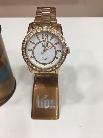 Relógio De Pulso Dumont Sp89010 Rosé Açoinox Feminino