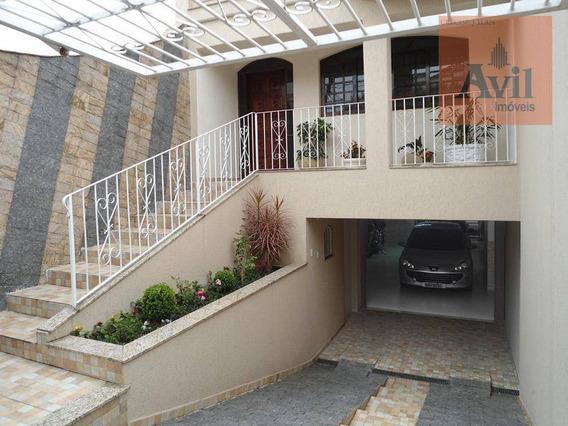 Sobrado Com 3 Dormitórios À Venda, 320 M² Por R$ 980.000,00 - Osvaldo Cruz - São Caetano Do Sul/sp - So0562