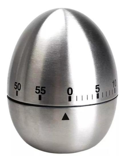 Timer Alarma Temporizador Cocina 60 Min Huevo Acero Inoxidab