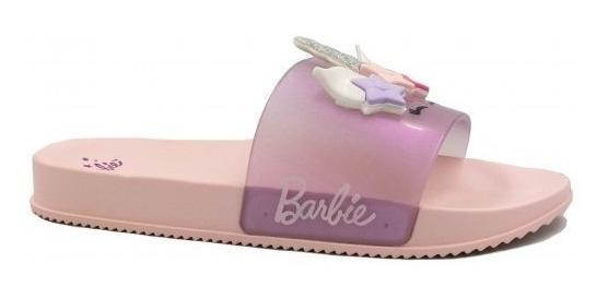 Chinelo Feminino Infantil Barbie Slide Glam 21689