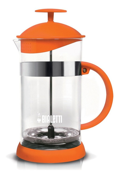 Cafetera Prensa Francesa Bialetti 1 Litro Naranja Vidrio