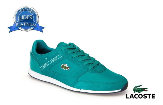 Zapatillas Lacoste Menerva Sport Verde Gn1 Rojo Rs7