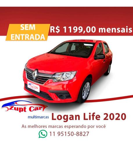 Renault Logan Life 2020 Completo Uber 99