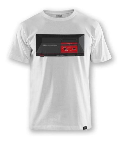 Camiseta Sega Master System Console Branca - 3p