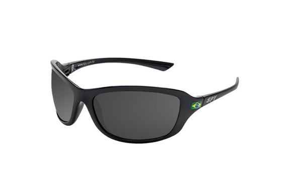Óculos De Sol Spy - Link 44 Preto Brilho - Lente Polarizada