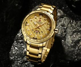 Relógio Quartzo Masculino Dourado Prova D