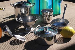 Set Completo De Cocina De Aluminio Puro 7 Piezas En Bolsa
