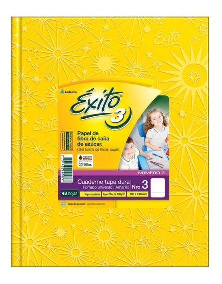 Cuaderno Exito Universo 3 Amarillo Abc Rayado 19x24