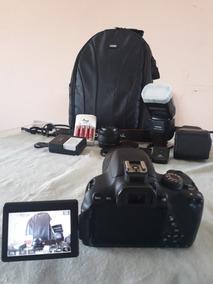Kit Canon T5i Para Fotografias E Vídeos