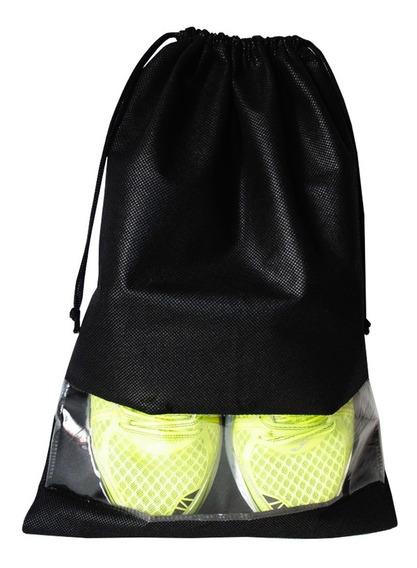 Saco Para Sapato Cordinha - Kit Com 10 - 32x45cm