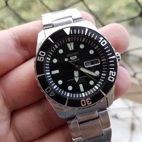 Relógio Seiko Snzf17 K1 Preto - Diver Automático - Novo