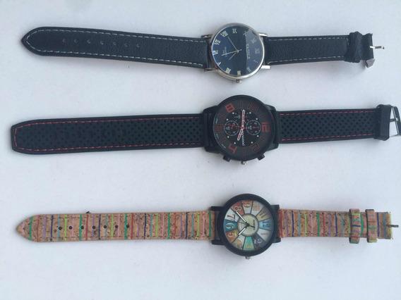 Kit Com Três Relógios. Sanwood, Yazole E Sansdo.
