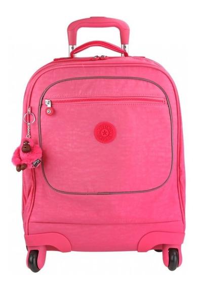 Mochila Escolar 4 Rodinhas Kipling Licia Original Pink Dog