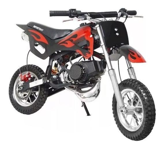 Mini Moto A Gasolina Infantil 2 Tempos Cross Trilha 49cc 0km