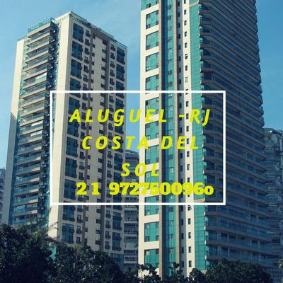 Apartamento Avenida Lúcio Costa, Vista Mar, 4 Qts + Dependência - 180m² - 123