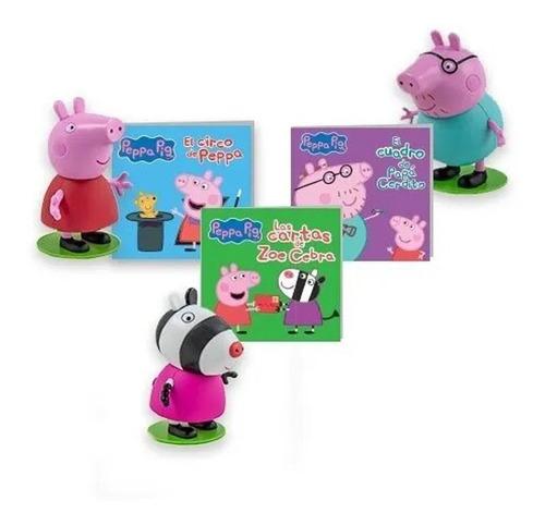 Imagen 1 de 6 de Clarín Colección Peppa Pig Set 3 De 12 Muñecos Oficiales