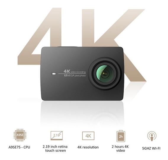 Câmera Xiaomi Yi 4k + Case + Acessórios (gopro)