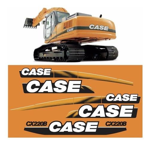 Kit Adesivo Escavadeira Case Cx220b Cx 200 B + Etiquetas Mk
