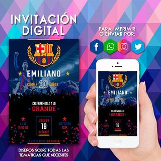 Invitaciones De Cumpleaños Del Barcelona En Mercado Libre