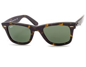 21e6897dd Óculos Ray Ban Wayfarer 2140 Tartaruga Lente Verde G15 - Óculos no ...
