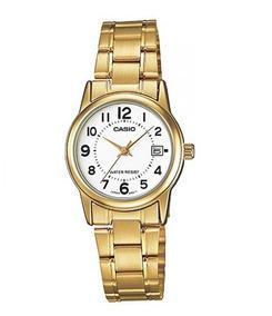 Relógio Casio Feminino Dourado Ltp-v002g-7budf Original