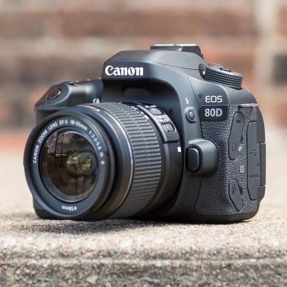 Câmera Canon 80d Nova, Na Caixa, Lente 18-55mm Stm Garantia