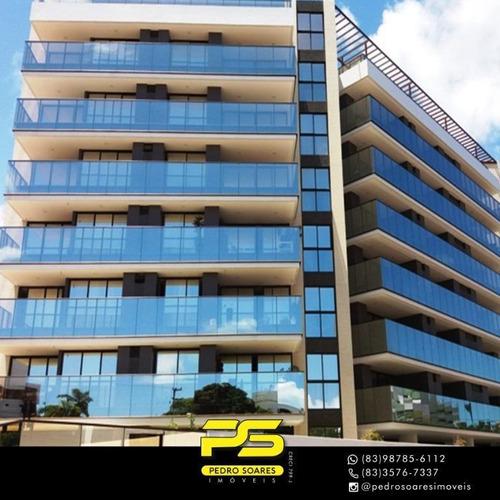 Apartamento Com 4 Dormitórios À Venda, 181 M² Por R$ 1.290.000 - Cabo Branco - João Pessoa/pb - Ap3986