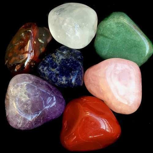 Kit 7 Pedras Mistas Cristais Zen Naturais Mix Grandes 296