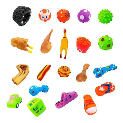 Kit Com 12 Brinquedos Para Pet - Mordedor - Bolinha - Pneus