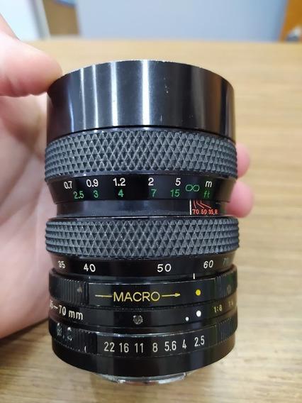 Lente Soligor Macro 35-70mm F2.5/3.5 Made Japan Pk Canon Eos