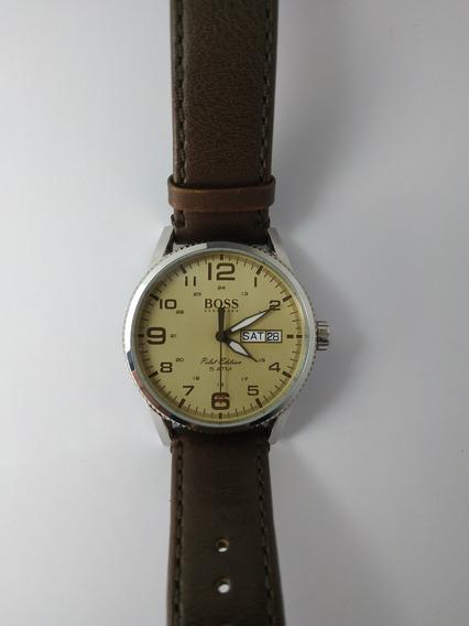 Reloj Boss Con Correa De Piel Original
