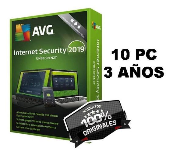 Licncia Av.g Internt_scurity 10pc / 3años (2019) Original