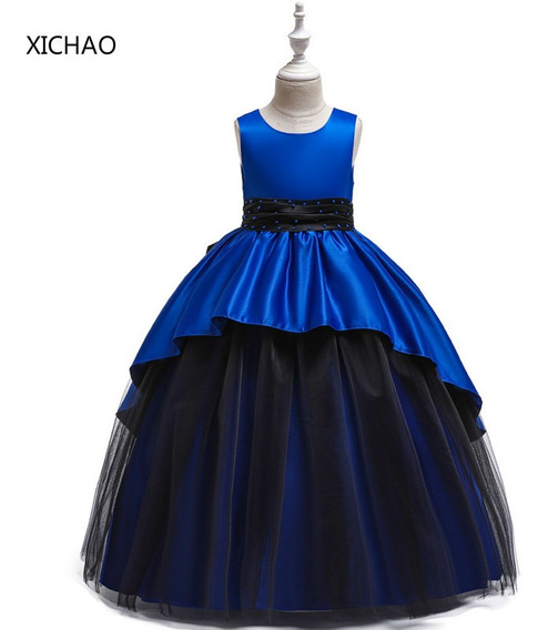 Vestido Largo Para Niños Con Cuentas De Princesa
