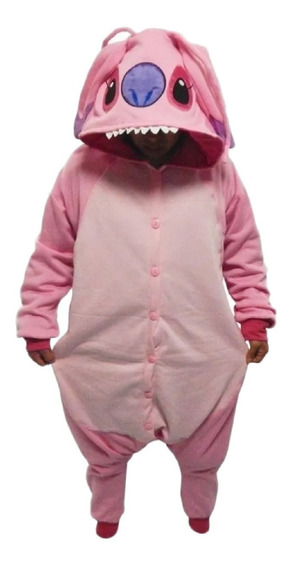 Lilo & Stitch Rosa Pijama Kigurumi Mameluco Cosplay
