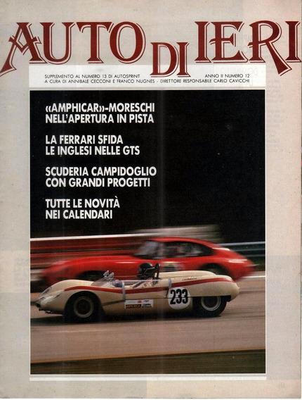 Auto Di Ieri - Ano Ii Nº 12 - Encarte - Auto Sprint