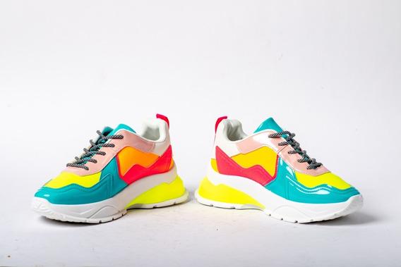 Nataya Tenis Multicolor Neón