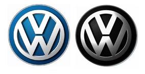 Emblema Logo Adesivo Alumínio Para Chave Volkswagen Com 2un