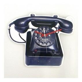 Relógio De Mesa Telefone Retro Plastico 30x37 Cm